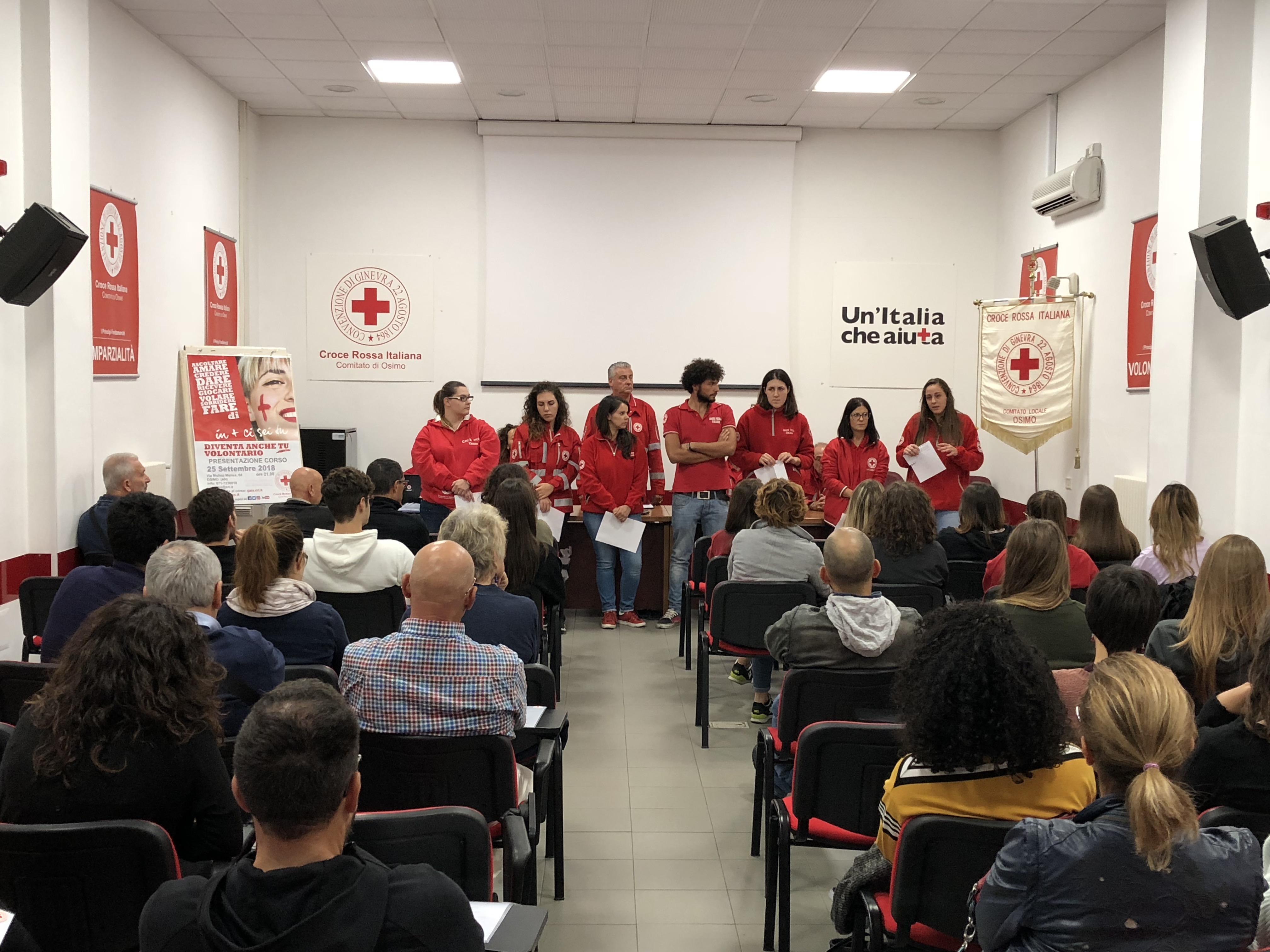 Presentazione nuovo corso volontari CRI Osimo