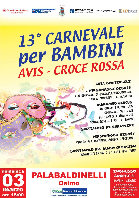 13° Carnevale per Bambini Avis – Croce Rossa