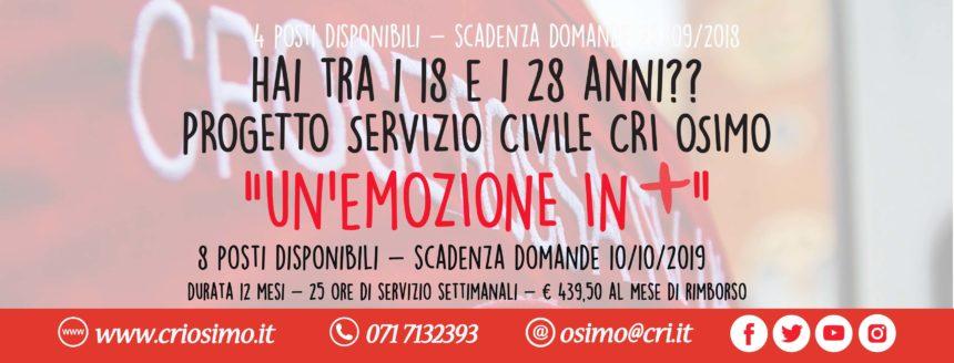 Servizio Civile – CRI Osimo (termine presentazione domanda prorogata al 17 ottobre 2019)